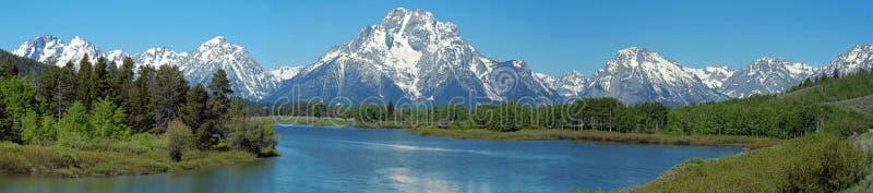 Teton panorama stock image