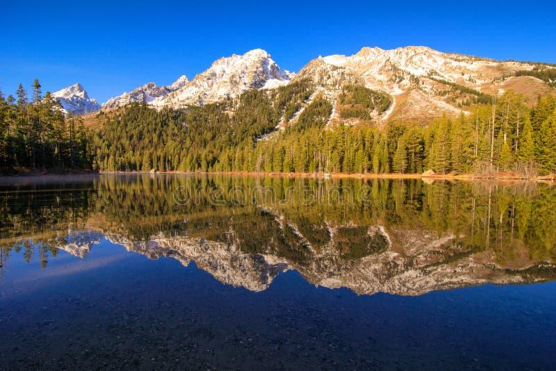 Tetons grand de lac leigh images libres de droits