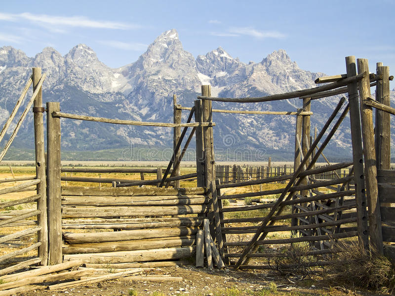 Tetons Hürde-Gatter, Wyoming stockfotografie