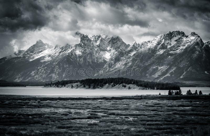 Tetons noir et blanc photos libres de droits