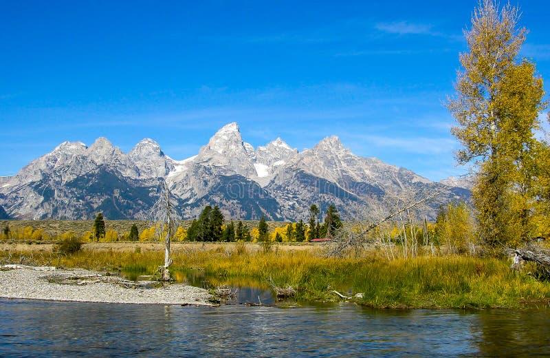 Tetons od rzeki zdjęcia royalty free