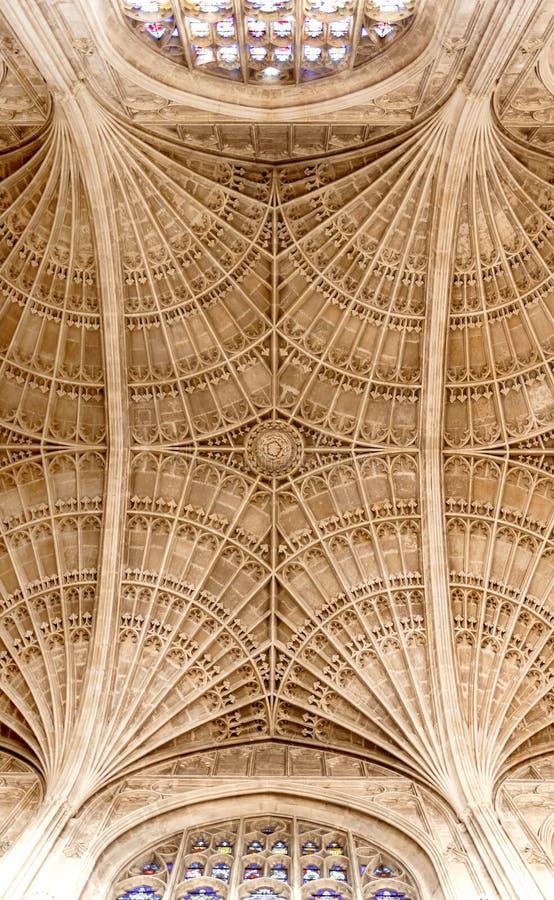 Tetos da capela do Kings College, Cambridge foto de stock