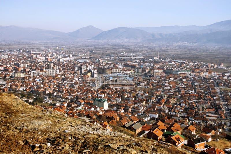 Tetovo, Macedonia. Aerial view of city of Tetovo, Macedonia royalty free stock photography