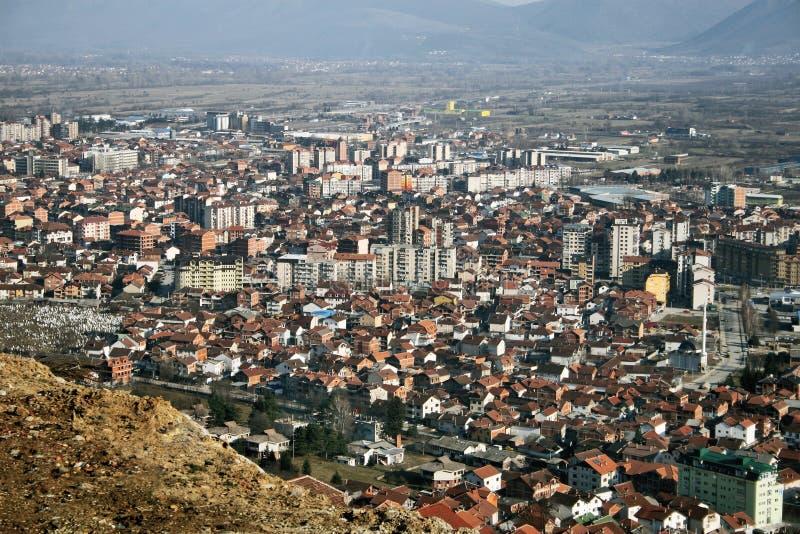 Tetovo, Macedonia. Aerial view of city of Tetovo, Macedonia stock photo