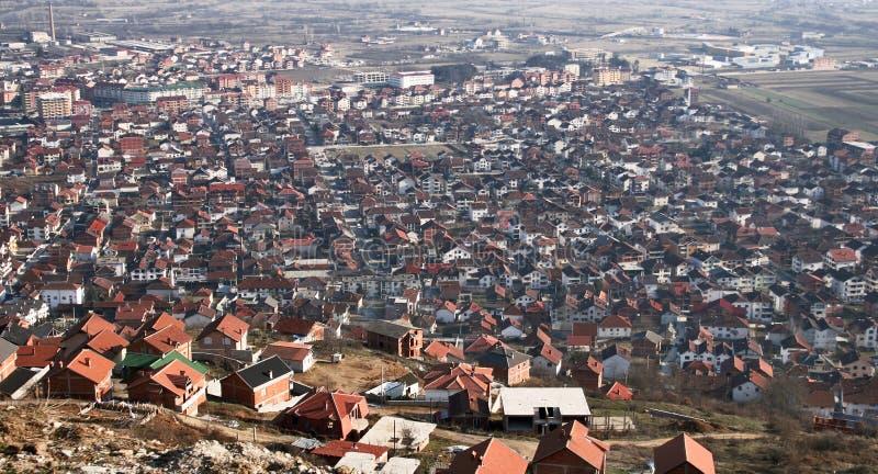 Tetovo, Macedonia. Aerial view of city of Tetovo, Macedonia royalty free stock photo