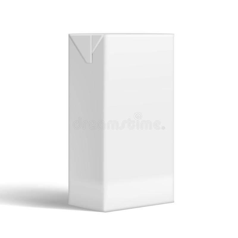 Tetra marcado en caliente realista de la leche o de Juice Clear White Packaging For del paquete libre illustration