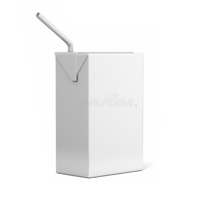 Tetra pacchetto con la rappresentazione realistica bianca del coperchio illustrazione 3D illustrazione vettoriale
