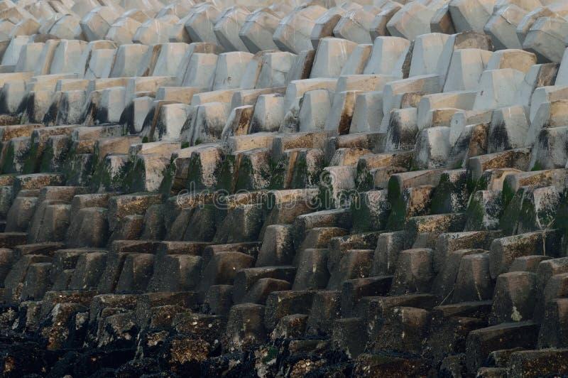 Tetrapods au port en Chine image stock