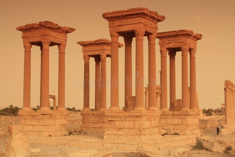 Tetrapylon im Palmyra, Syrien lizenzfreies stockfoto