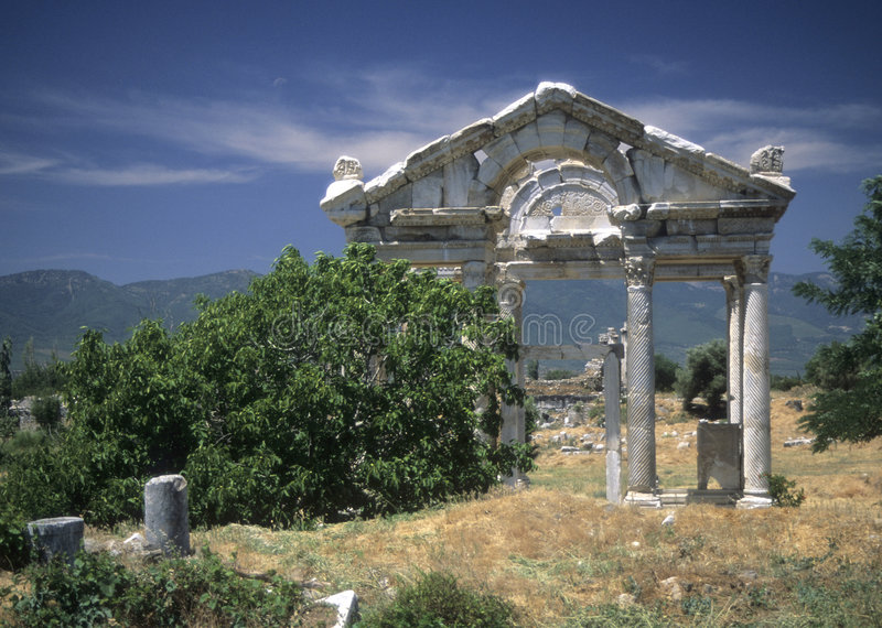 Tetrapylon, oude Griekse stad royalty-vrije stock foto's