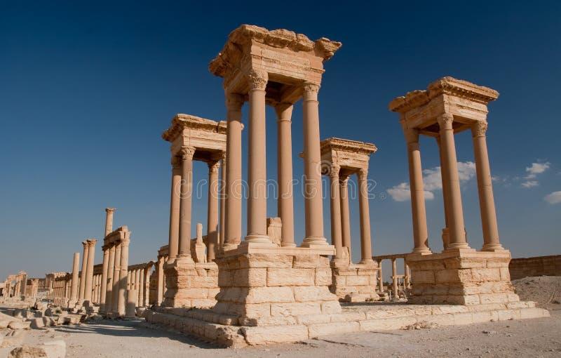 Tetrapylon in Palmyra royalty-vrije stock afbeelding