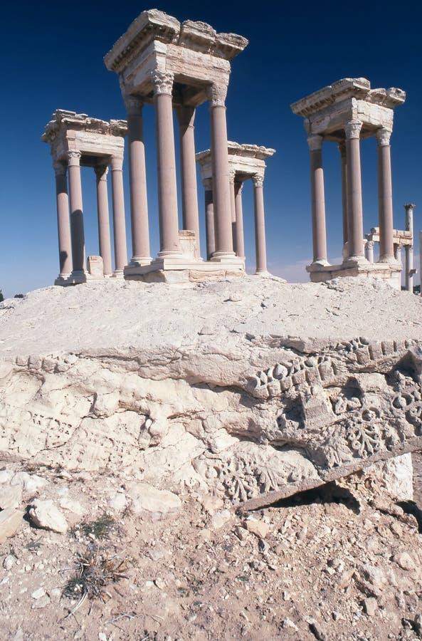 Tetrapylon am Palmyra Syrien stockbilder