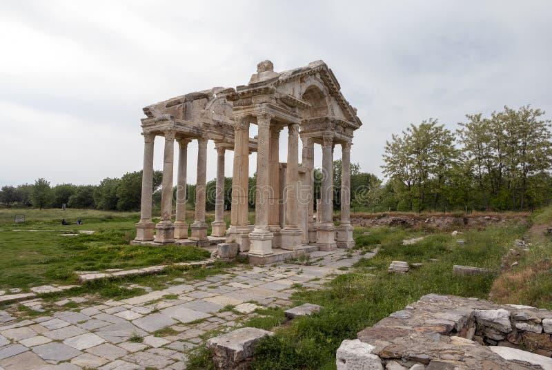 Tetrapylon-Tor von Aphrodisias alte Stadt, die Türkei stockfoto