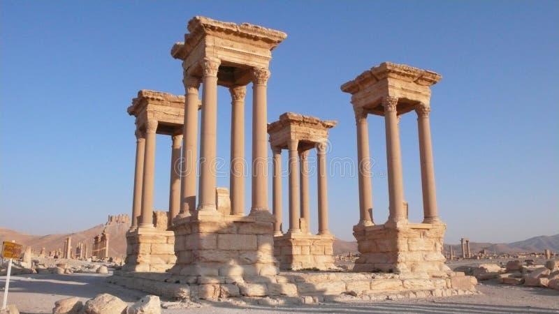 Tetrapylon von Palmyra. Syrien stockfotos