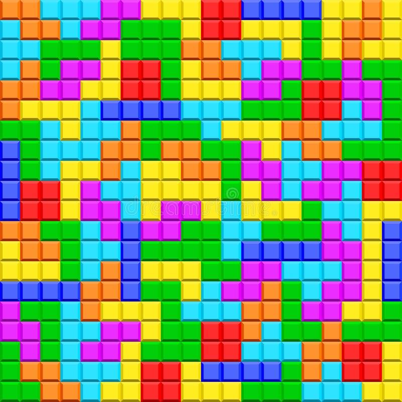 Tetris illustration de vecteur