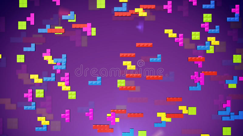 Tetris royalty-vrije illustratie