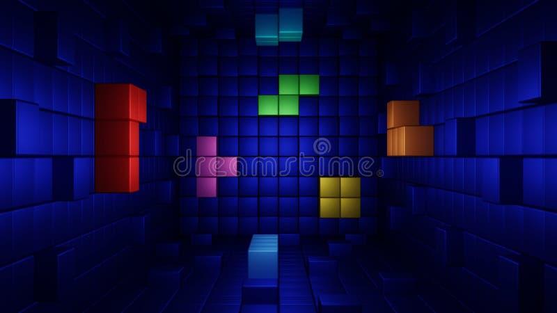 Tetris-abstractie stock afbeelding