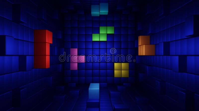 Tetris abstraction stock image