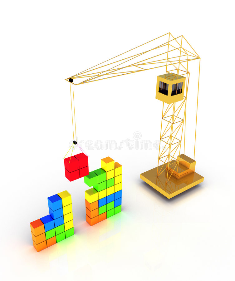 Tetris construction vector illustration