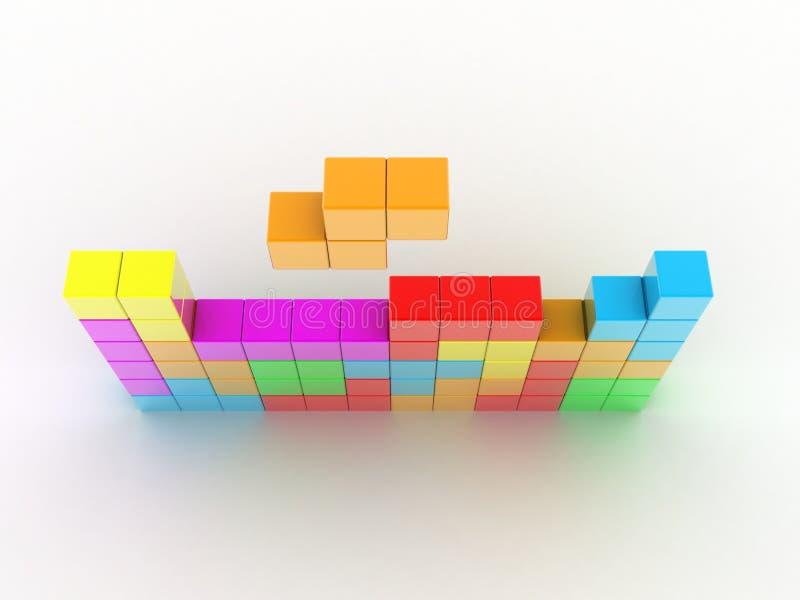 Download Tetris game stock illustration. Image of blocks, challenge - 15887433
