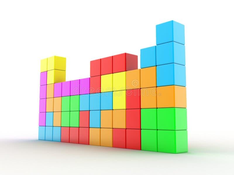 Tetris lek stock illustrationer