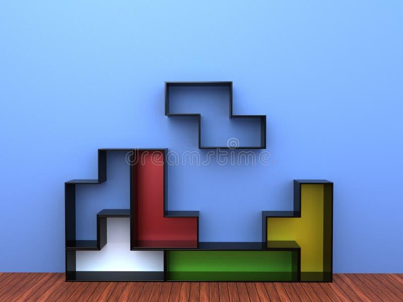Tetris półki jednostka ilustracja wektor