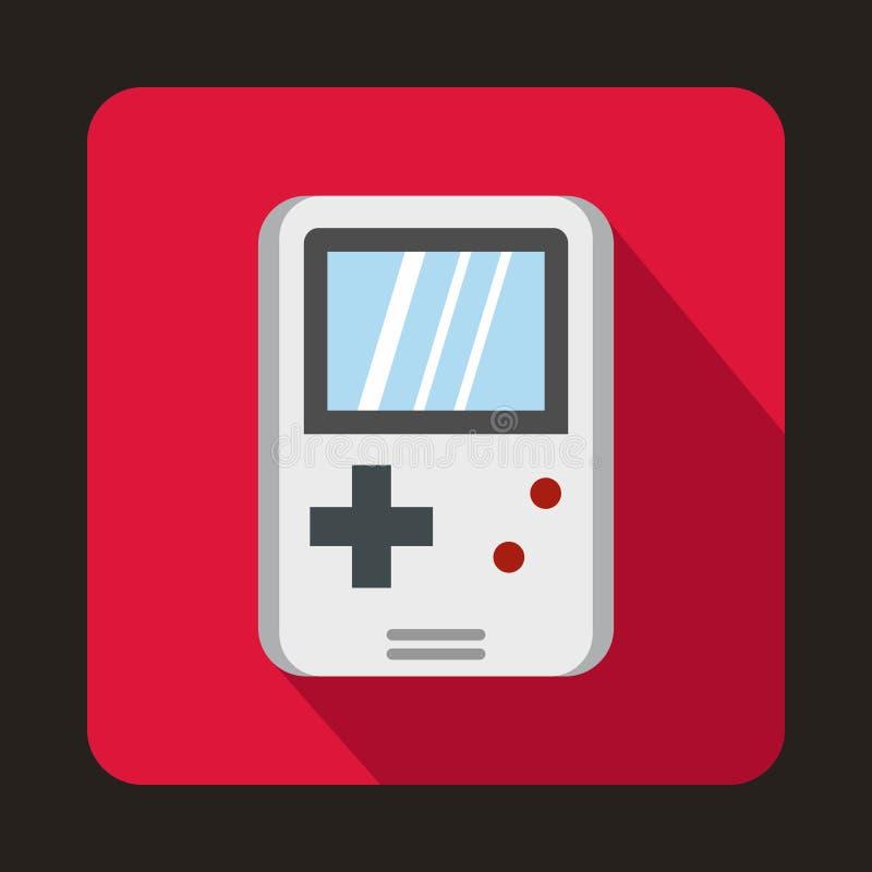 Tetris para o ícone dos jogos, estilo liso ilustração royalty free