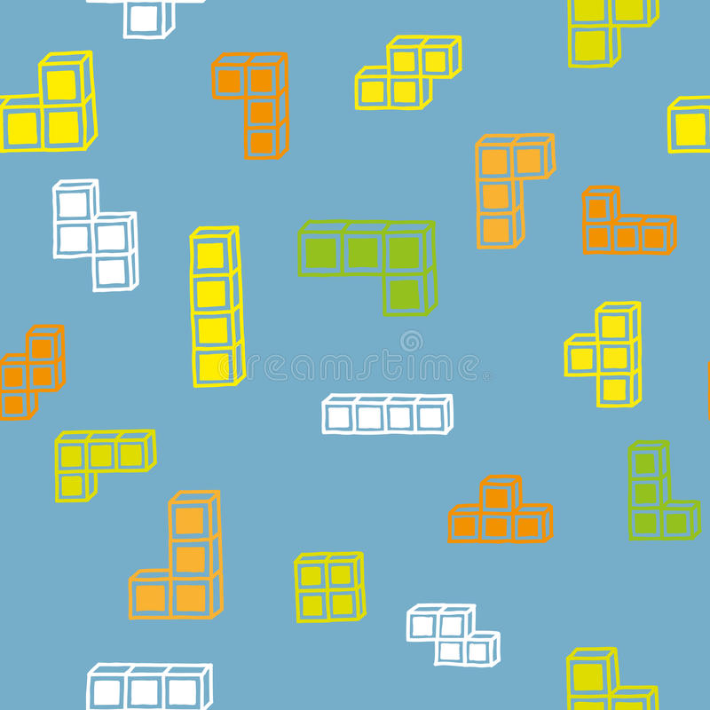 Tetris pattern stock illustration