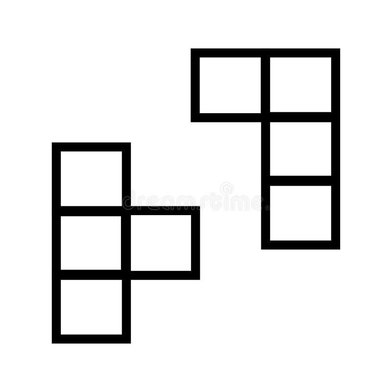 Tetris-pictogramvector vector illustratie