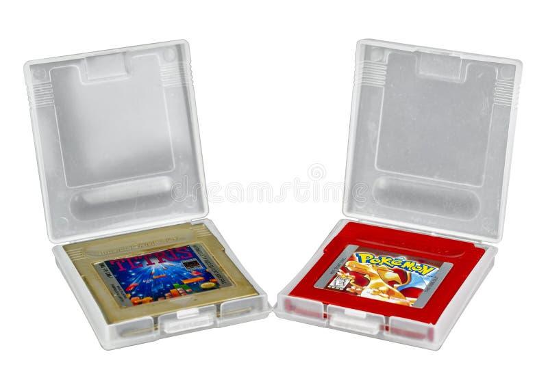 Tetris & Pokemon Game Boy fotografie stock libere da diritti
