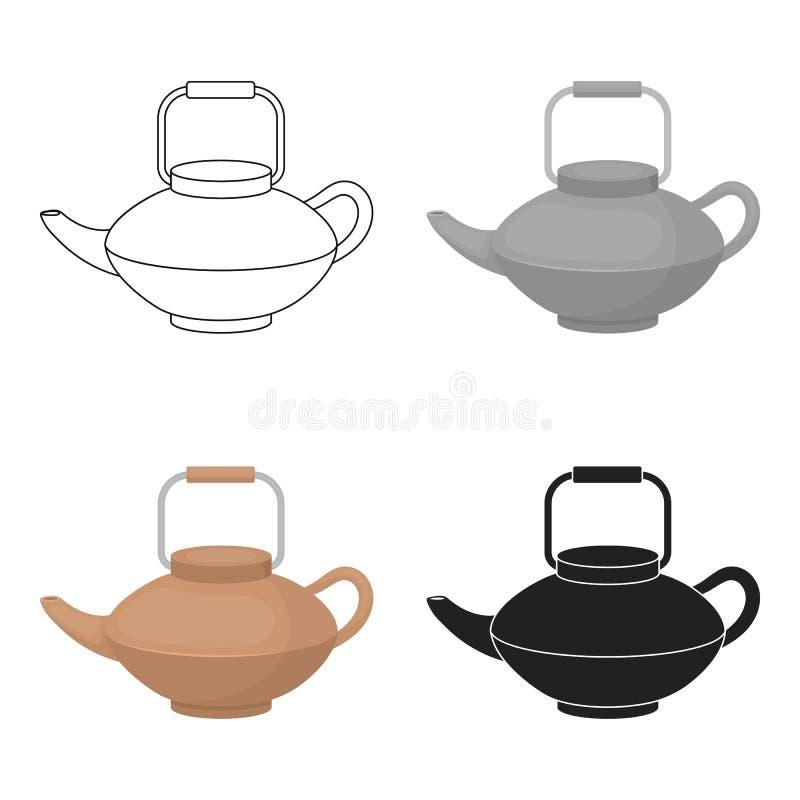 Tetsubin icon in cartoon style isolated on white background. Sushi symbol stock vector illustration. Tetsubin icon in cartoon style isolated on white background stock illustration