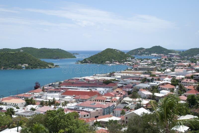 Tetti dell'isola vergine immagine stock libera da diritti
