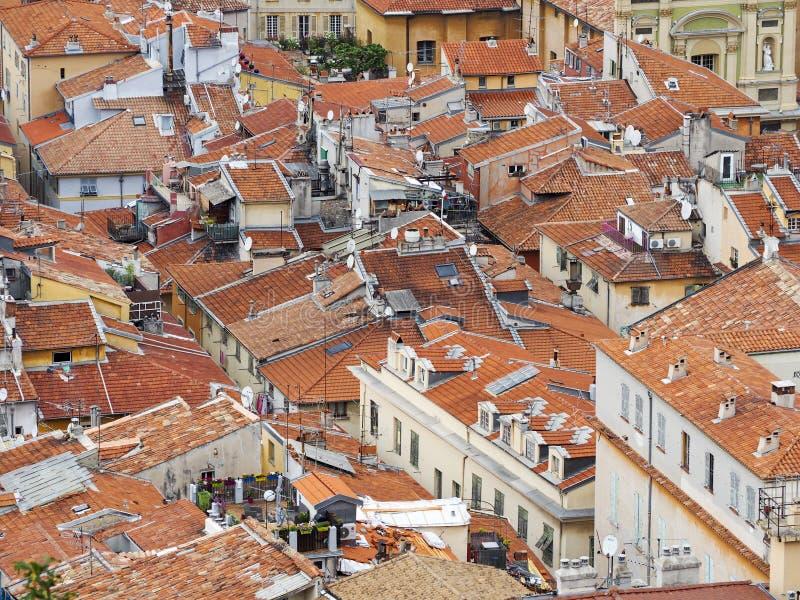 Tetti della città di Nizza fotografie stock