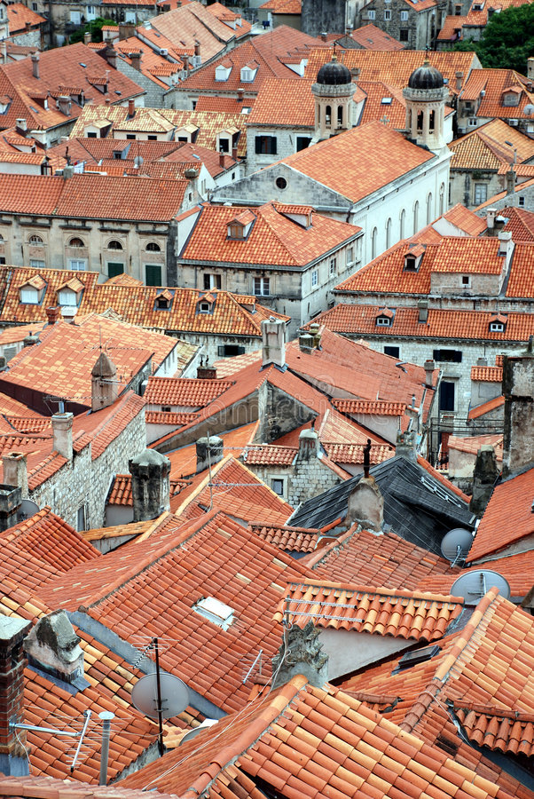 Tetti di Dubrovnik immagine stock