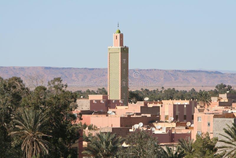 Tetti di Erfoud nel Marocco fotografia stock