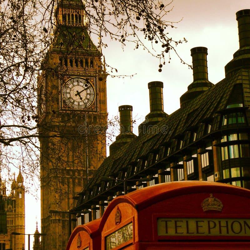 Tetti di Londra e di Big Ben fotografia stock libera da diritti