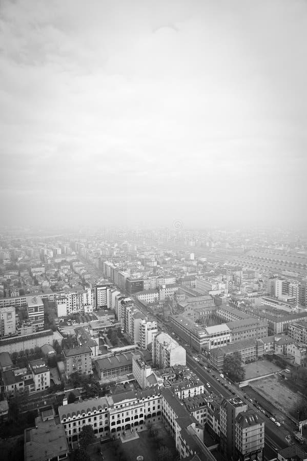 Tetti di Milano fotografie stock