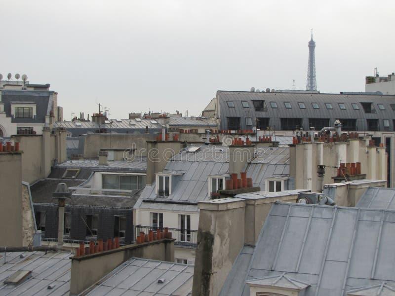 Tetti di Parigi fotografia stock