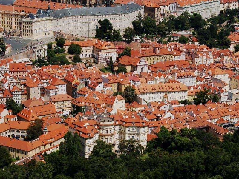 Tetti di Praga fotografie stock libere da diritti