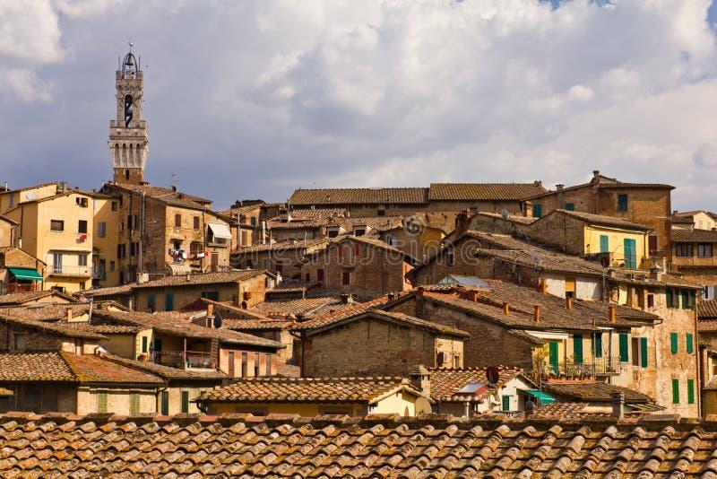 Tetti di Siena fotografia stock