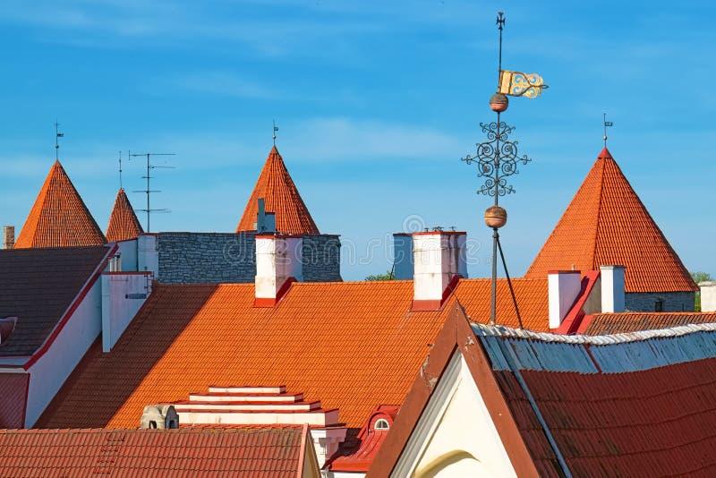 Tetti di Tallinn L'Estonia fotografia stock libera da diritti