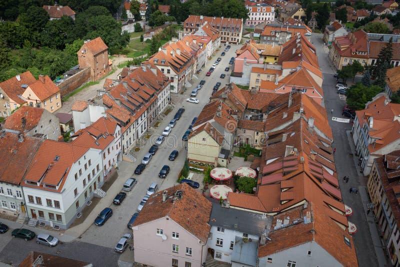 Tetti di vecchia città di Reszel immagine stock libera da diritti