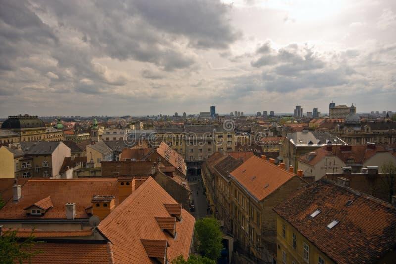 Tetti di Zagabria fotografie stock