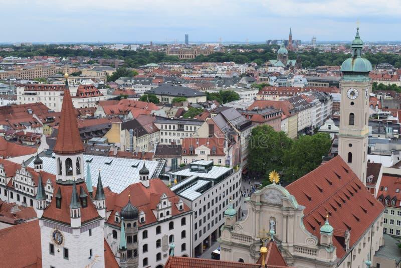 Tetti a Monaco di Baviera fotografia stock libera da diritti