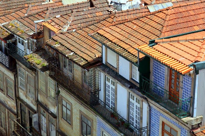 Tetti a Oporto, Portogallo fotografie stock libere da diritti