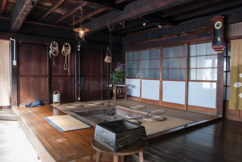 Tetti Thatched a Ogimachi, Giappone fotografia stock libera da diritti