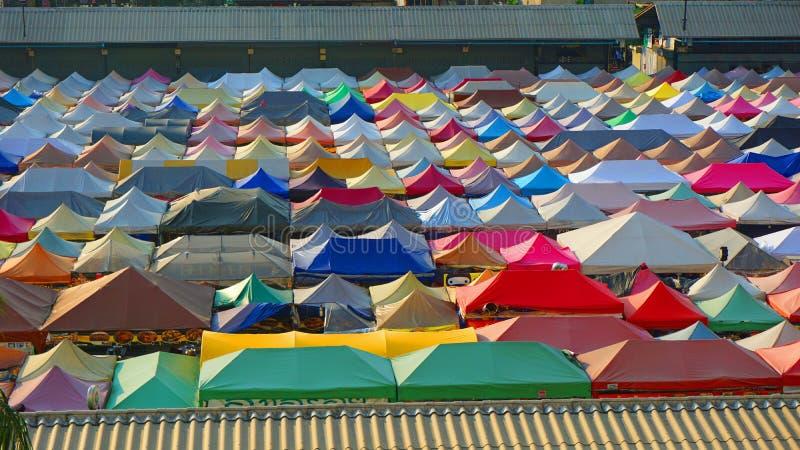 tetti variopinti della tenda fotografia stock libera da diritti