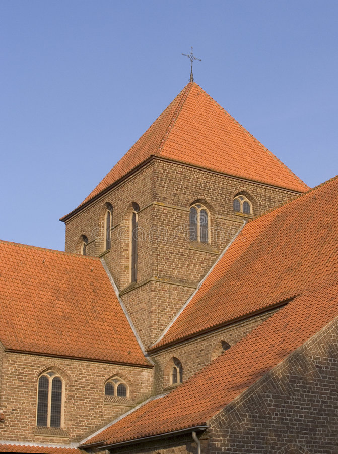 Tetto 2 della chiesa fotografia stock