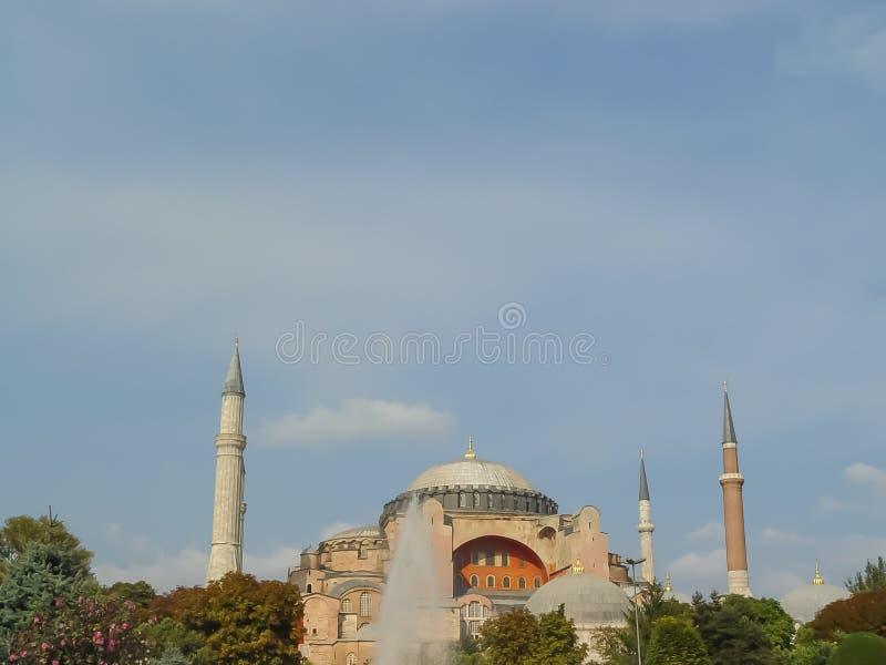 Tetto blu della moschea da Aya Sofia fotografia stock libera da diritti