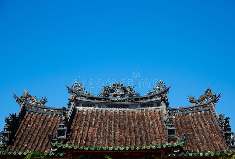 Tetto cinese fotografie stock libere da diritti